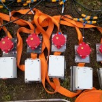 Układ testowy z zamontowanymi czujnikami
